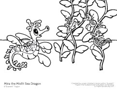 Mira the Misfit Sea Dragon coloring pages (2)
