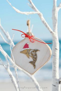 dolphin coastal ornament