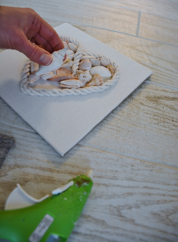 rope seashell shadowbox step 3b
