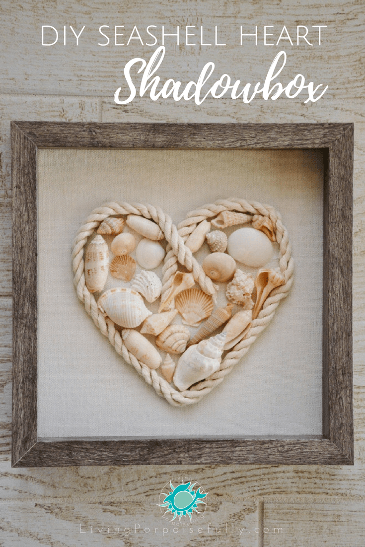 DIY Seashell Heart Shadowbox