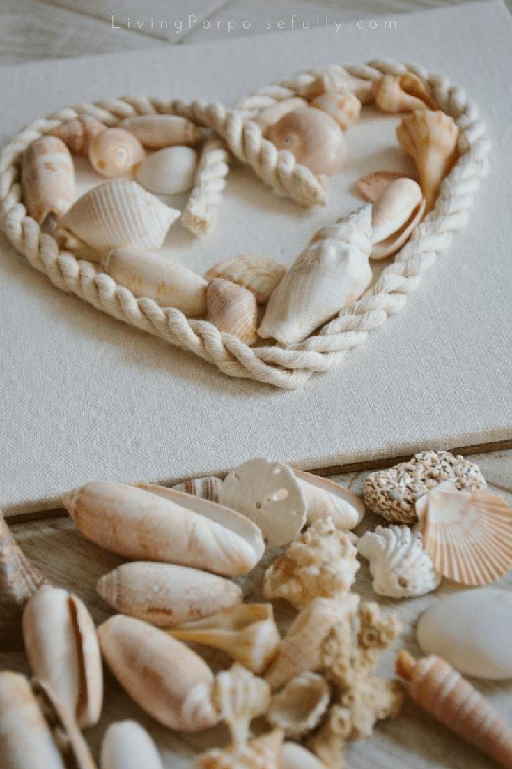 seashell heart shadowbox