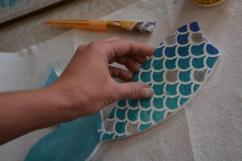 DIY Mermaid Sign - tail 6 put napkin on tail