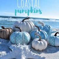 DIY Coastal Aqua Pumpkins
