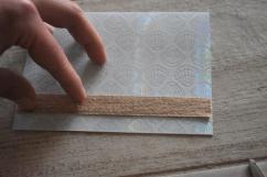 DIY Coastal Notecards - 8 place ribbon