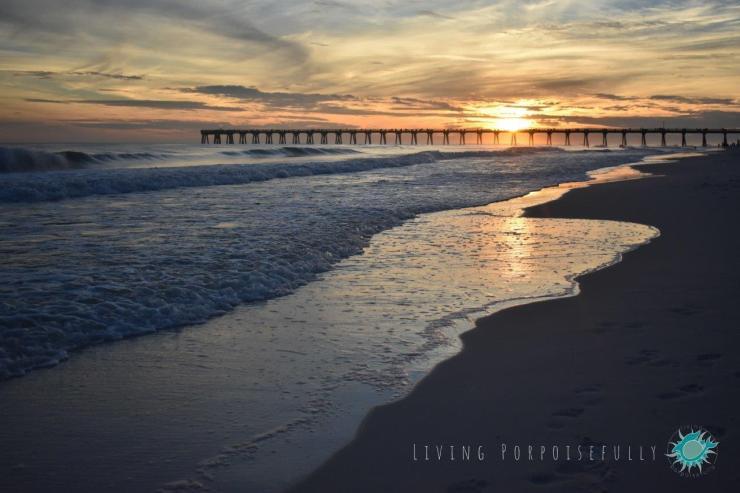Sunset Navarre Beach Pier Living Porpoisefully 1