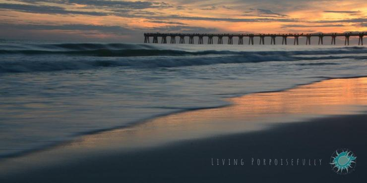 Sunset Navarre Beach Pier Nature Photography Living Porpoisefully 3