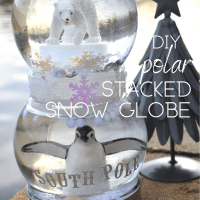DIY Polar Stacked Snow Globe