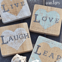 DIY Beachy Heart Coasters