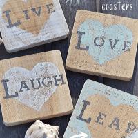 DIY Beachy Heart Coasters