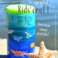 Ocean Zones Upcycled Craft Activity for Kids