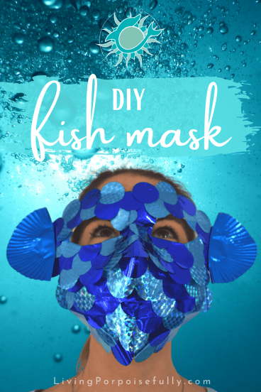 DIY Fish Mask from Living Porpoisefully - uses a disposable face mask