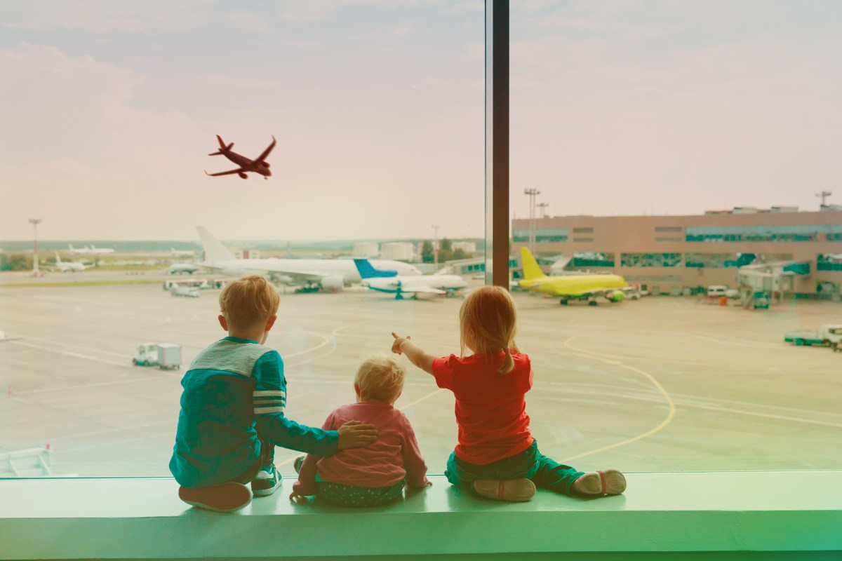 Tips for flying long haul with children