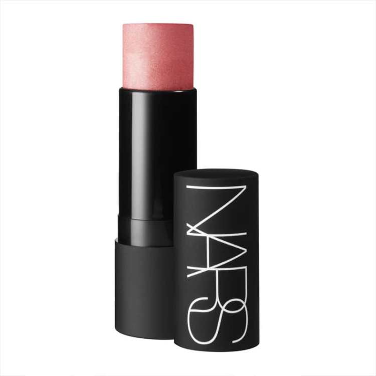 Recommended: Multi-use beauty products. Image of NARS the Multiple makeup stick in Orgasm Shade with lid off.