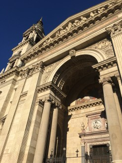 48 hours in Budapest. Image exterior close up of St Stephen's Basilica