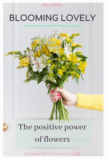 Blooming lovely: the positive power of flowers. Flowers have been proven to increase the well-being not only for the person you send them to but also your own well-being. Flowers have many positive benefits. Flowers and well-being. How to simply introduce flowers into your home or office environment. #flowers #wellbeing #increasewellbeing