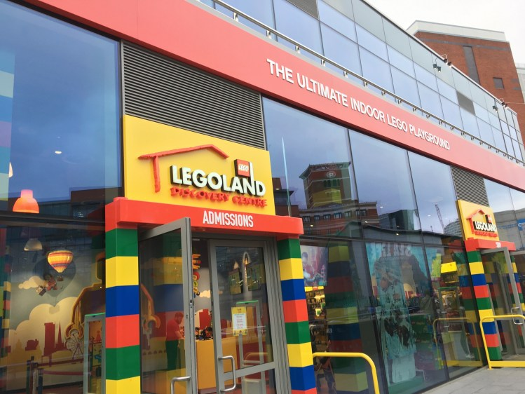 Happy Days: Legoland Discovery Centre Birmingham. Image of entrance to Legoland Discovery centre Birmingham