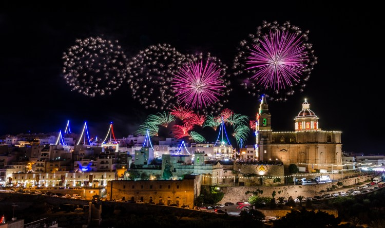 10 Things you should know about Malta. Going to Malta - 10 things you should know. Fireworks display for the village feast of Our lady in Mellieha - Malta