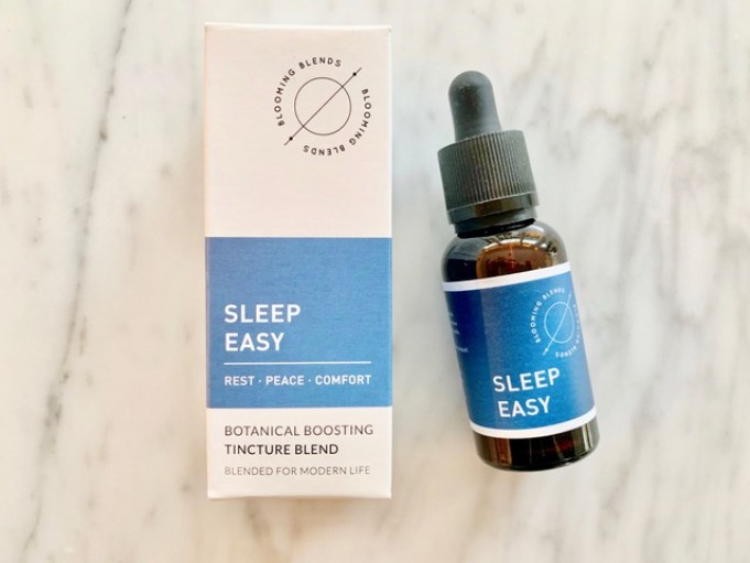 Sleep well: How to win at sleeping! (and why you should want to).  How to get a better night's sleep.  Image of Blooming Blends Sleep Easy Botanical Boosting Tincture