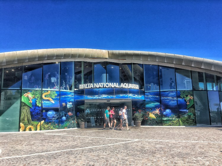 Fun things to do in Malta with kids.  Image of exterior of Malta National Aquarium