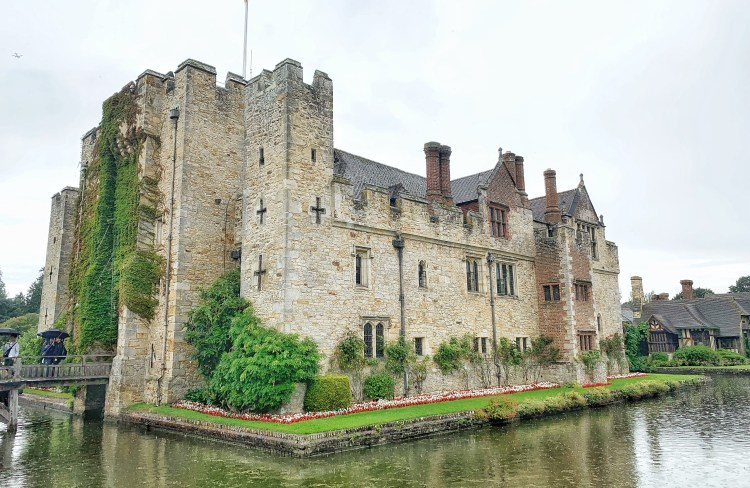 Hever Castle in Kent. Childhood home of Anne Boleyn. Surrounded my a moat & bridge