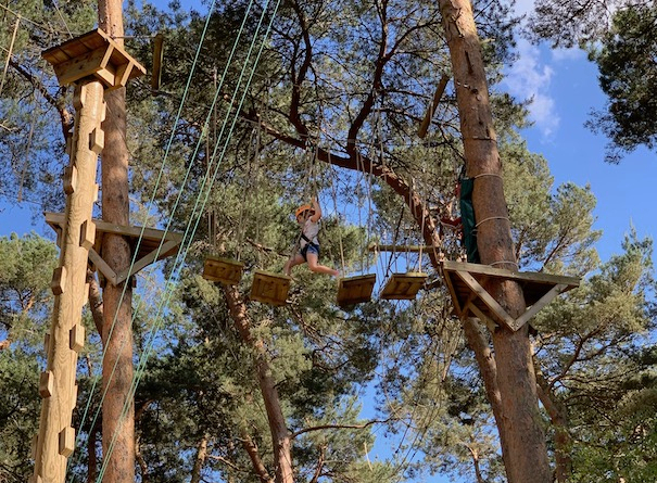 Tree-top bridges to navigate across made me face my fear