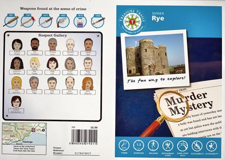 A murder mystery treasure trail for Rye, UK
