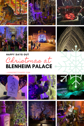 Happy Days Out - Christmas at Blenheim Palace a Review.  Review of Alice in the Palace, Illuminated Christmas Lights Trail & Christmas Markets at Blenheim Palace.  Top Tips for Visiting Blenheim Palace the Christmas.  Christmas Days Out UK #Christmas #christmaslightstrail #blenheimpalace #daysoutUK #Christmasexperiences #familyfun #thingstodoinoxford