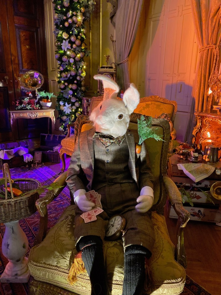 Spotted the white Rabbit at the Alice in the Palace Experience