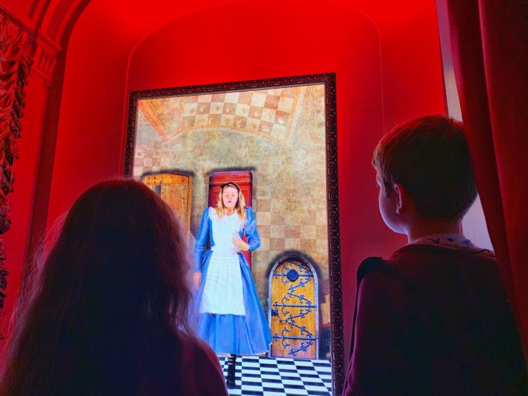 An interactive element at the Alice in the Palace Experience