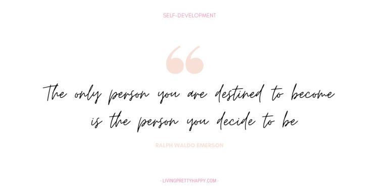 Ralph Waldo Emerson Self-Development Quote