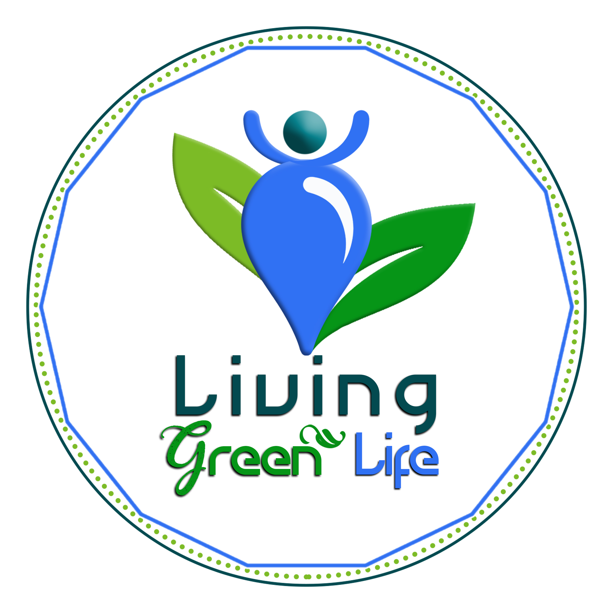 living green life logo