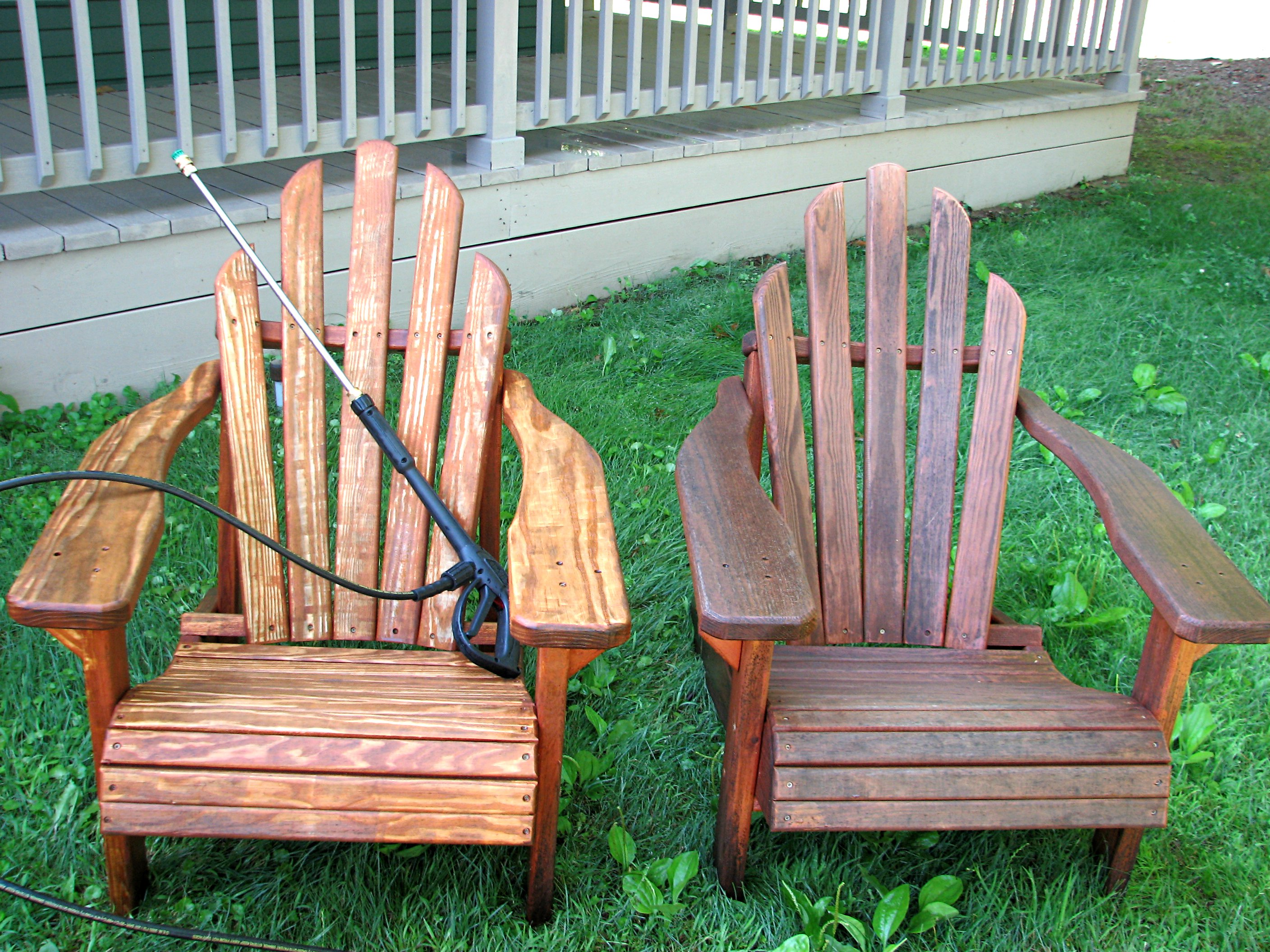 painted adirondack chairs christmas chair covers near me re staining living rich on lessliving less the