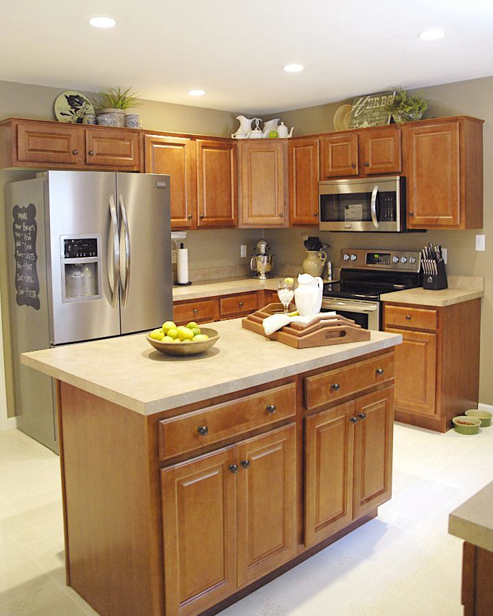 kitchen cabinets ri storage table house tour - living rich on lessliving less