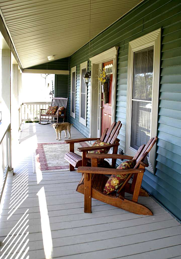 the rocking chair store white barber with headrest cheap-o spring porch decor - living rich on lessliving less