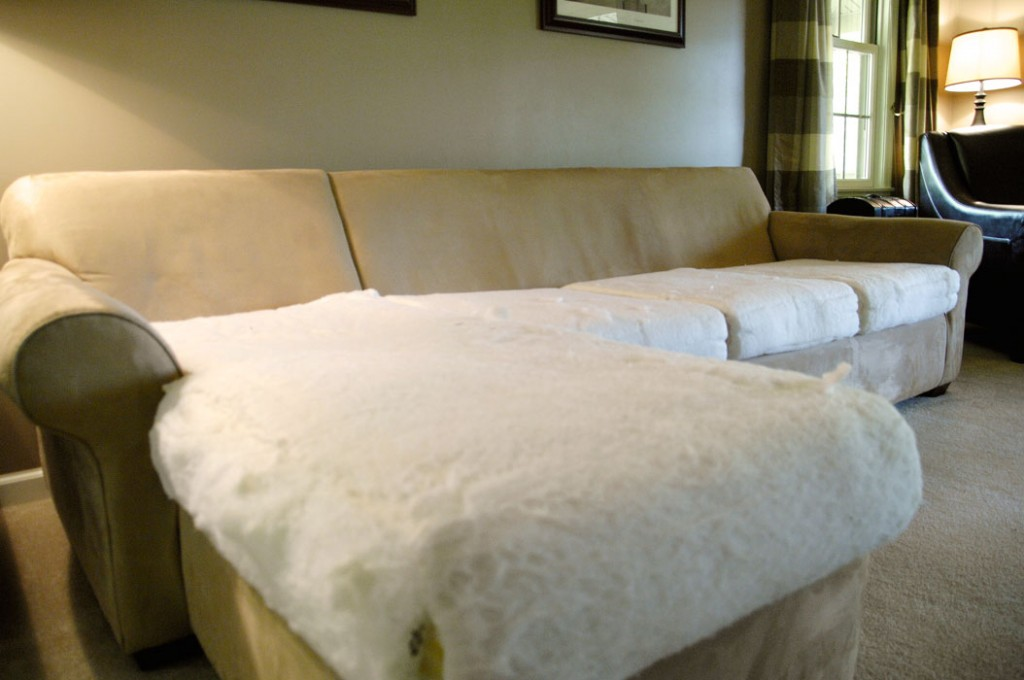 How To Make An Old Couch New Again For 10 Living Rich On