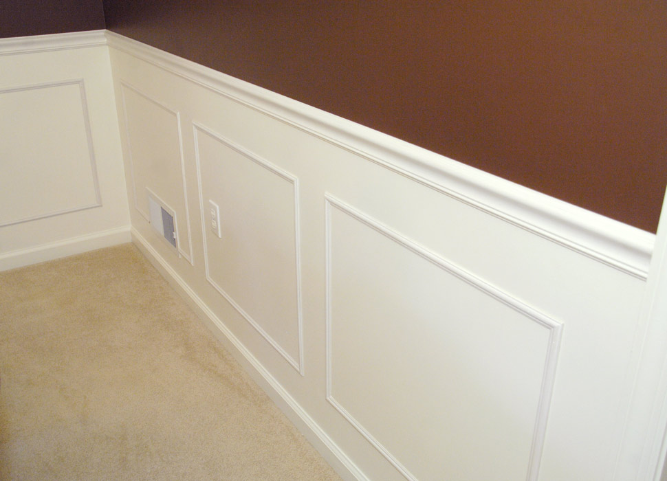 paint my living room recliner sets step-by-step guide to installing molding - rich on ...