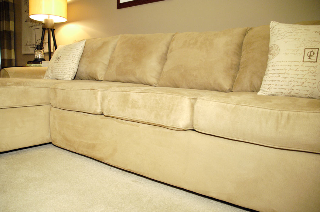 throw covers sofa beatrice cream microfiber how to make an old couch new again for $10 - living rich ...