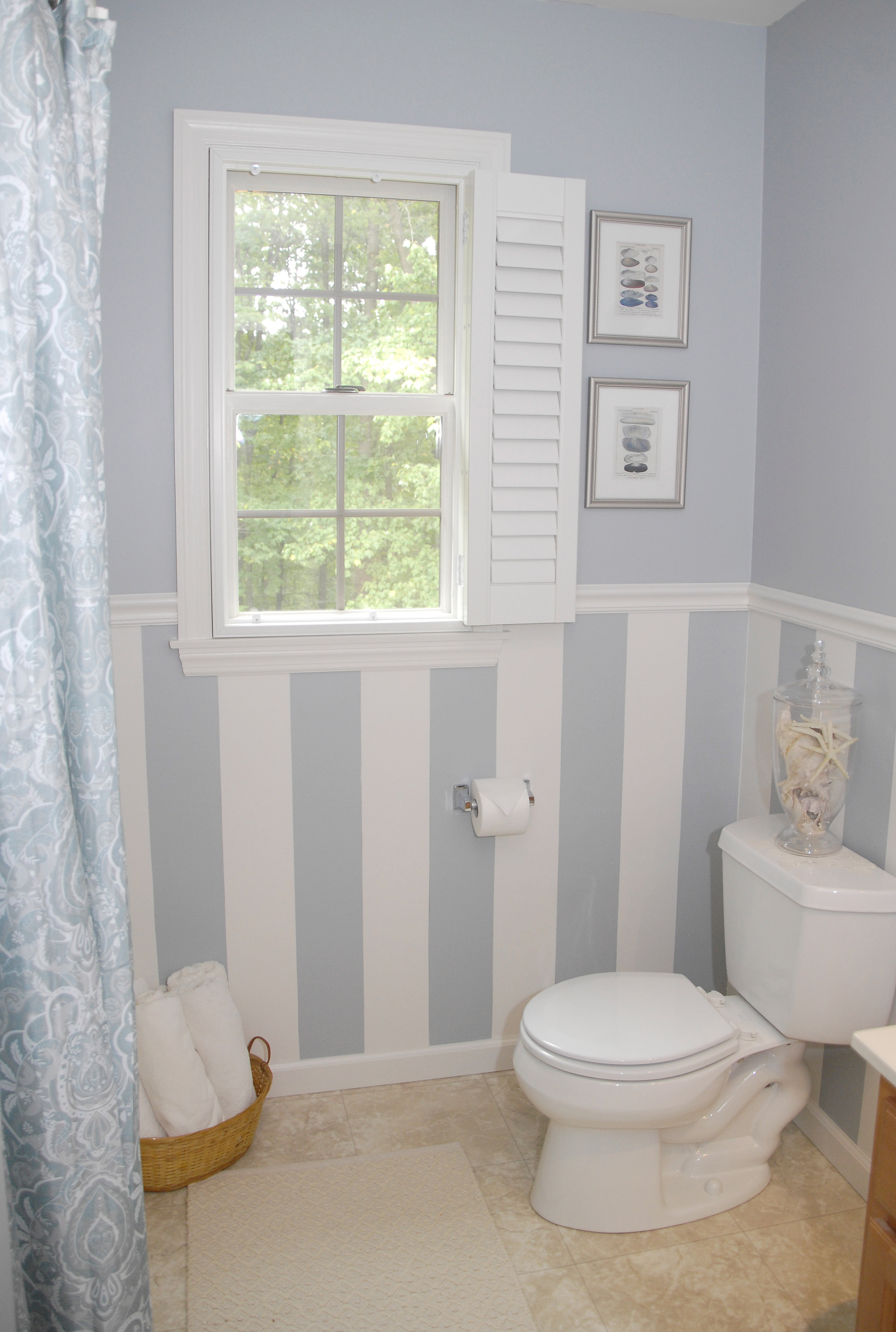 88 bathroom makeover plus a droolworthy DIY window treatment  Living Rich on LessLiving