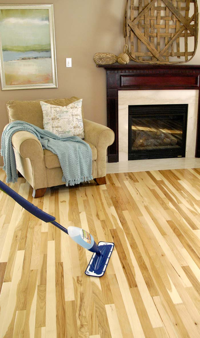 wood wall living room christmas decorating ideas for small hickory floor sneak peek (plus hardwood cleaning tips ...
