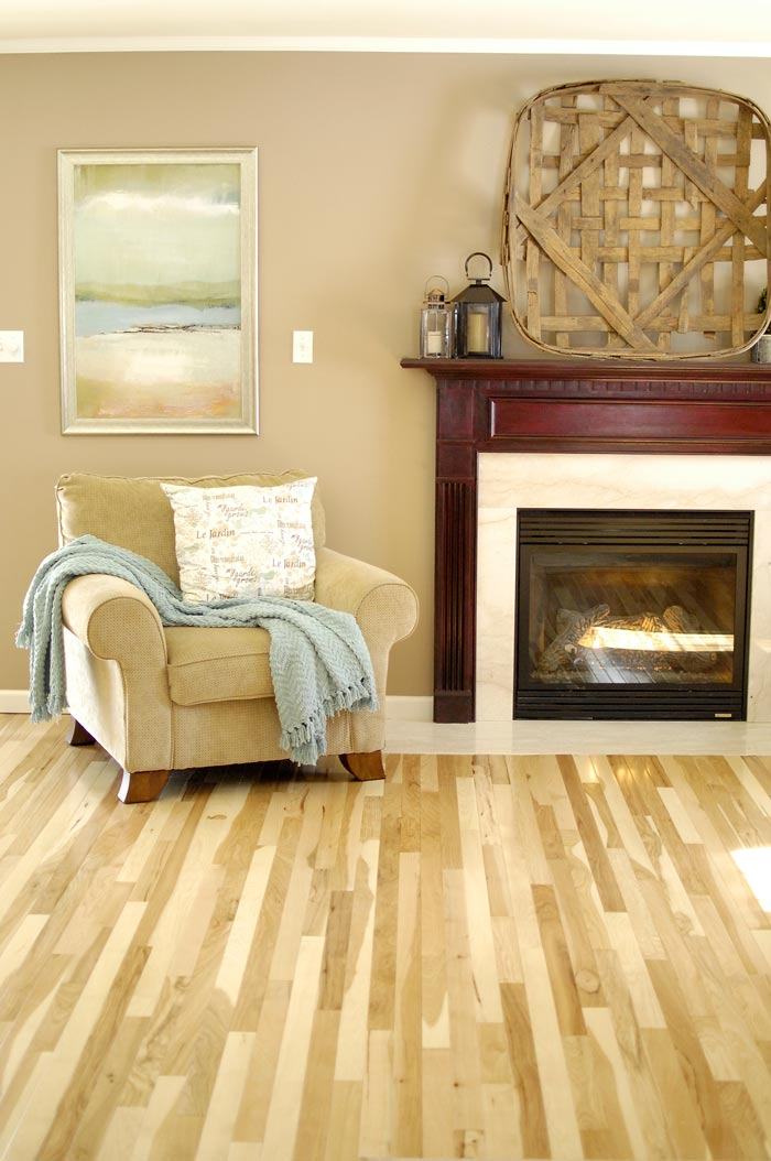 Hickory Floor Reveal Living Rich On LessLiving Rich On Less