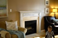 Fireplace transformation in progress - Living Rich on ...