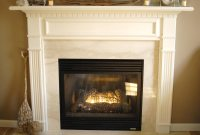 White fireplace mantel makeover