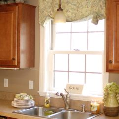 Kitchen Valance 60 Inch Sink Base Cabinet How To Make Easy Curtainsliving Rich On Less