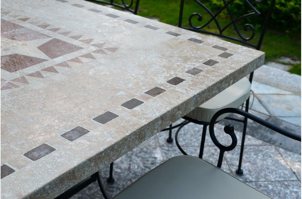Table De Jardin Mosaique Fer Forgé   Cuisine D\'été ...