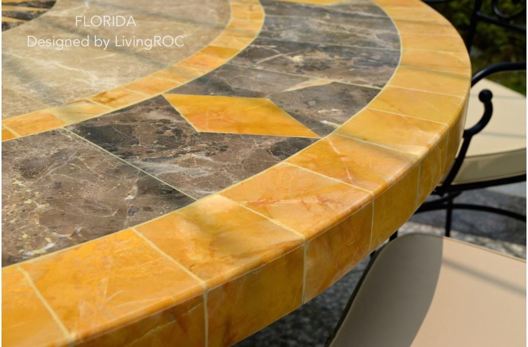 Table De Jardin Mosaique Fer Forgé   Décoration • Intérieur ...