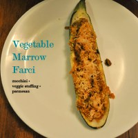 Vegetable Marrow Farci (or Zucchini Boats)