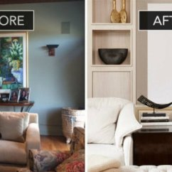 Beautiful Living Room Images Sofa Ideas Rooms Before And After Of A Sophisticated Family 2