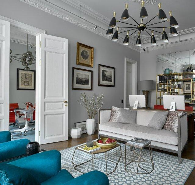 Mid-century Modern apartment's living room designs