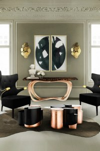 10 graceful living room ideas with copper details  Living ...