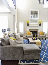 Living Room Ideas: Mix Blue and Yellow  Living Room Ideas